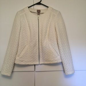 Chico's size 0 ivory zipper jacket